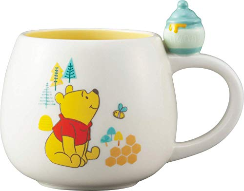 (Japanese Winnie the Pooh 3D Figurine Hunny Pot Ceramic Mug, 10.14 Ounce / 300 ml [ SAN-2989 ])