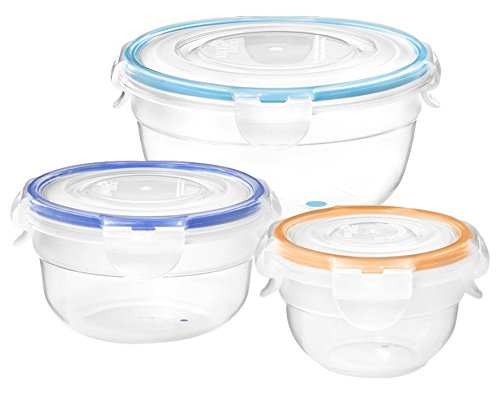 Lock & Lock 095136-006-0000 Plastic Containers with Lids-Lunch Set, Clear Lock&lock By Starfrit(r)