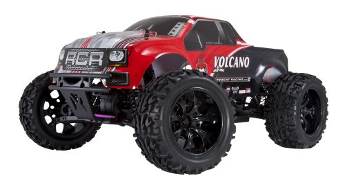 Redcat Racing Electric Volcano EPX Truck with 2.4GHz Radio,Vehicle Battery and Charger Included (1/10 Scale), Red (Cat Racing Red Receiver)
