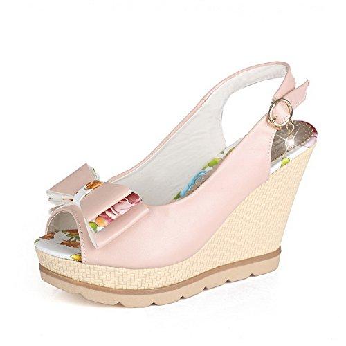 Sandals Color Assorted PU WeenFashion Metal Peep High Women's Toe Pink Heels xzBxfR