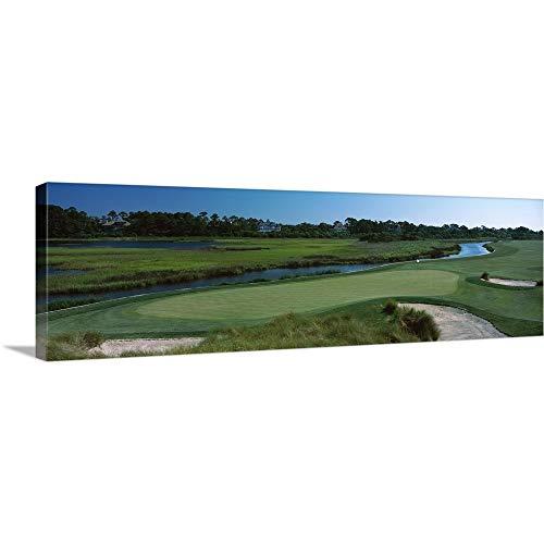 Premium Thick-Wrap Canvas Wall Art Print Entitled River and a Golf Course, Ocean Course, Kiawah Island Golf Resort, Kiawah Island, Charleston County, South Carolina 60