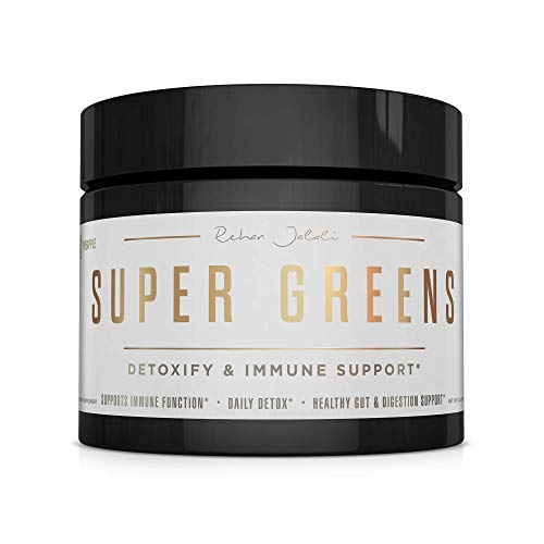 Super Greens Superfood Powder – Immune & Energy Support | Made with Organic Ingredients | Detoxifying & Alkalizing Minerals – Spirulina, Chlorella, Wheatgrass, Spinach, Alfalfa & More