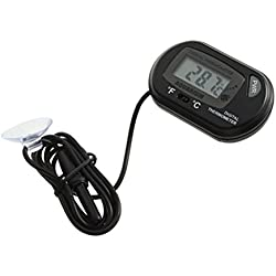 UEETEK LCD Digital Aquarium Thermometer for for Fish Tank Water Reptile Terrarium (Black)