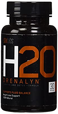 H20 Drenalyn, 100% Natural Weight Loss Support and Detoxifying Diuretic, 30 Servings
