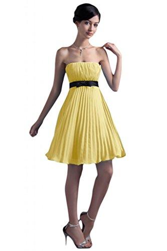 abito damigella Sunvary Chiffon d'onore vestito per Vestito spalline feste Narciso senza corto da semplice pYwqpg