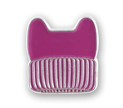 Pink Hat Pin - Forge Pink Magenta Pussycat Hat Enamel Pin (1 Pins)
