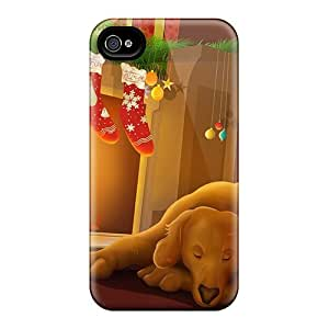 Durable Waiting For Christmas Back Case/cover For Iphone 4/4s
