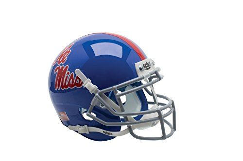 NCAA Mississippi Old Miss Rebels Blue Authentic Helmet, One Size by Schutt
