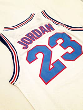 18193a0fa6d Looney Tunes Space Jam #23 Jordan Basketball Jersey White Throwback Jerseys  Sleeveless Breathable (SMALL