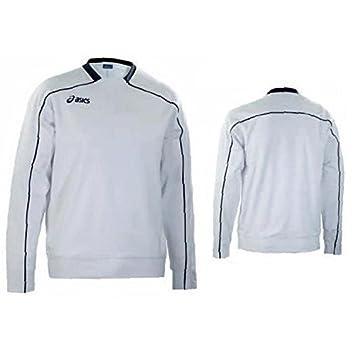 ASICS Sudadera Classic Deporte Tiempo Libre Unisex 60% algodón Super Blanco t674z8, L: Amazon.es: Deportes y aire libre