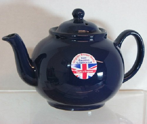 Hand made Original 6 Cup Brown Betty Teapot in Cobalt Blue (Cobalt betty)