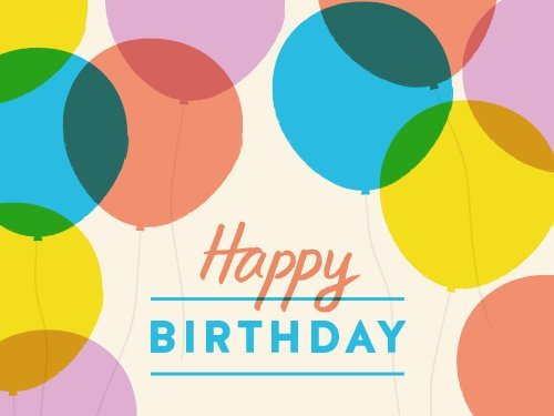 Happy Birthday Balloons Egift Card Link Image