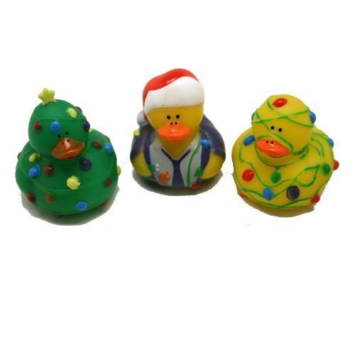 12 ct - Tangled Christmas Lights Rubber Duckys]()