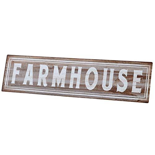 """Barnyard Designs Farmhouse Retro Vintage Tin Bar Sign Country Home Decor 15.75"""" x 4"""""""