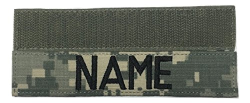 - US Army Name Tape Or US Army Tape, with Fastener Or Sew-On, ACU, Multicam OCP, Black, OD Green, Desert Tan, White (with Fastener, ACU)