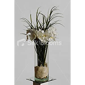 Ivory Real Touch Amaryllis Artificial Large Floral Display 110