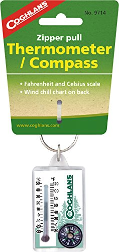 Coghlans 9714 Zipper Thermometer Compass