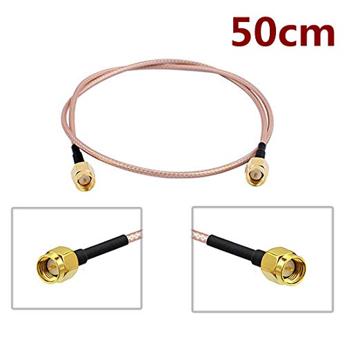 StyleZ Flexiable Low Loss RG316 Electronics RF Coaxial Coax Assembly SMA Male to SMA Male Extended Cable (50cm)