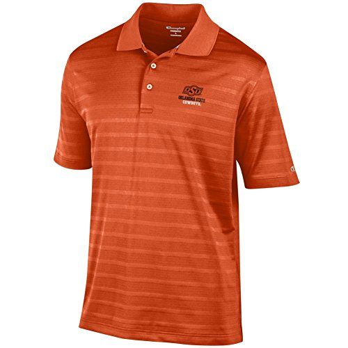 Champion Oklahoma State University Men's Polo Textured Solid Polo ()