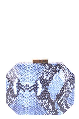 Elisabetta Franchi Mujer MCBI113273O Azul Poliamida Clutch