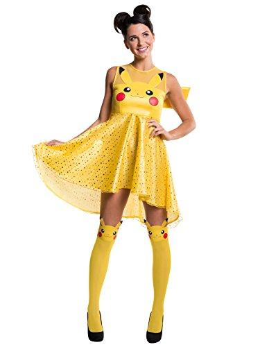 Rubie's Costume Co Women's Pokemon Pikachu Costume Dress, Yellow, Large