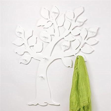 fibra di legno colore: Argento maiuguali Appendiabiti per montaggio a parete in forma di albero del prodotto in MDF