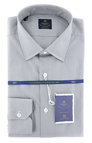 new-luigi-borrelli-gray-striped-extra-slim-shirt
