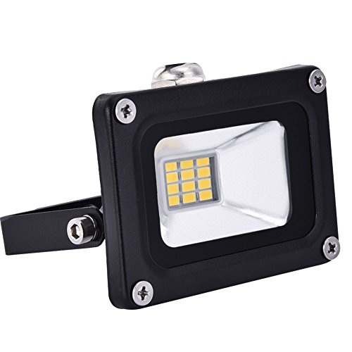 Focus Outdoor Floodlight - Coolkun 10W 12V LED Flood Lights, Warm White AC/DC IP65 Waterproof ,1000lm Outdoor &Indoor Security Floodlight