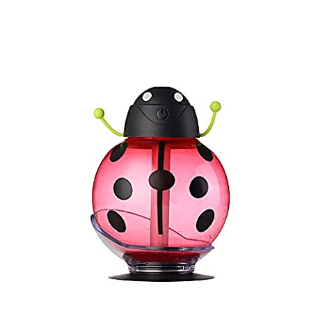 KINGEAR Beetle 260ML Mini Portable USB Air Freshener Purifier with Automatic Shut-off Function for Home Office Bedroom Baby Night Light School Travel (Baby Humidifier Air Purifier)