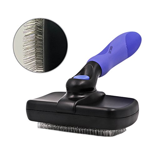 CAT DADDY Dogs and Cats Grooming Slicker Brush Tools Pet Wire Combs Effectively Reduce Shedding Up to 95% Hair (Blue)