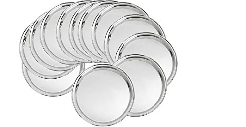 King International Stainless Steel Quarter Plate Set of 12 Peices,19.5 cm by King International