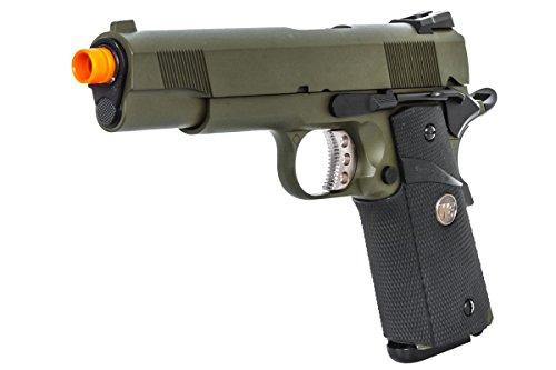 Cheap WE MEU 1911 Tactical Jungle Warrior GBB Airsoft Pistol (OD Green)
