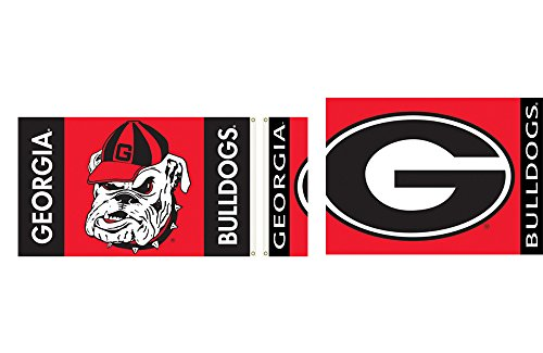 NCAA Georgia Bulldogs 2-Sided Flag with Grommets 60 x 36in (2 Banner Ncaa Side)