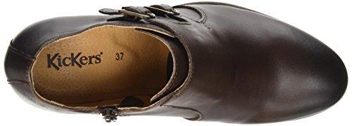 Kickers Dailymoc - Zapatos de Talón Abierto Mujer Marrón