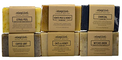 SIMPLICI Natural Soap 6 Bar Value Pack