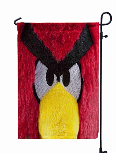 Shorping Open Garden Flag, 12x18Inch Russian September Red Angry Birds Soft Toy Studio Shot Popular Computer for Holiday and Seasonal Double-Sided Printing Yards Flags -