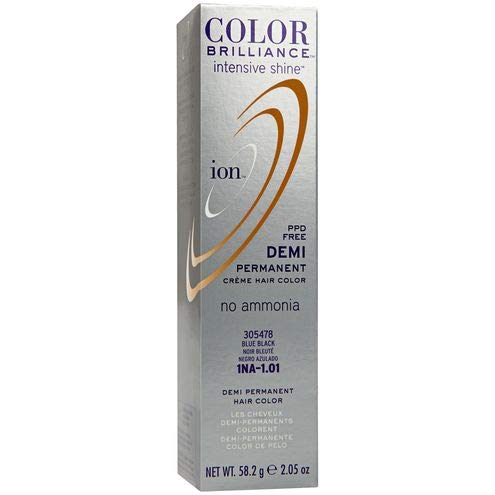 Ion Intensive Shine 1NA Blue Black Demi Permanent Creme Hair Color 1NA Blue Black