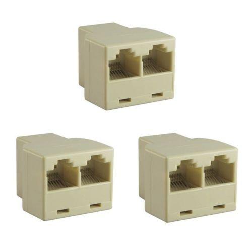 New 3X Ethernet Splitter Rj45 Adaptor Pc Connector Network LAN Pc Plug Cat5 6