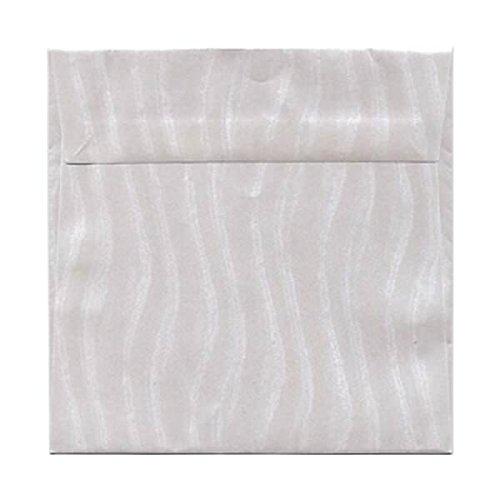 JAM Paper 6.5'' x 6.5'' Square Invitation Envelopes - Wave Metallic Stardream - 1000/carton