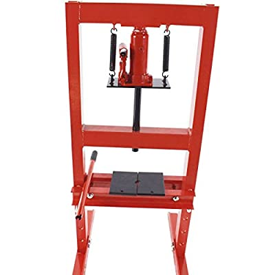 "6 Ton Shop Press Floor H-Frame Press Plates Hydraulic Equipment Jack Stand 8"""