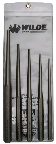 Set Punch Taper - Wilde Tool PLT5 Long Taper Punch Set, 5-Piece