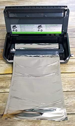 FoodSaver Compatible Mylar Vacuum Seal 8″x16′ or 11″x16′ Rolls   SteelPak Textured/Embossed Aluminum Foil Vacuum/Heat Seal Rolls to Create Custom-Sized Vacuum Sealer Bags (2, 11″x16′)