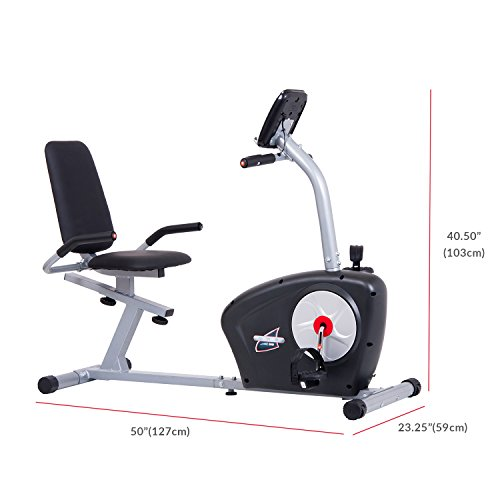 Body Champ Magnetic Recumbent Exercise Bike with Computer Program, Pulse and Resistance / Reclined Seat Back Support by Body Champ (Image #3)
