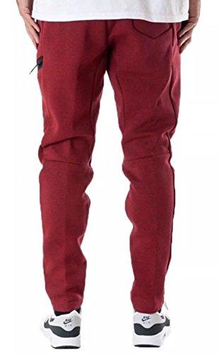 Nike mod. M Nsw Tch Flc–Pantaloncini da uomo Rosso (Rosso / melange / Nero)