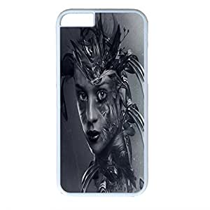 iPhone 6 case ,fashion durable white side design phone case, pc material phone cover ,with Hot Digital Art.