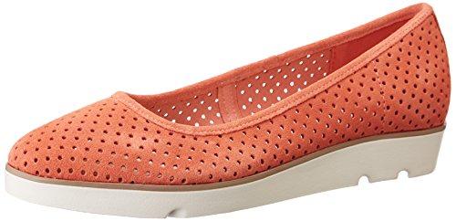 Clarks 261238644, Bailarinas Mujer Naranja (Coral Suede)