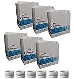Sterile 4''X4'' 6 Ply Split Drain Sponge 6 Packs of 25 Packs of 2 + 6 Rolls of Vakly Medical Tape (6)