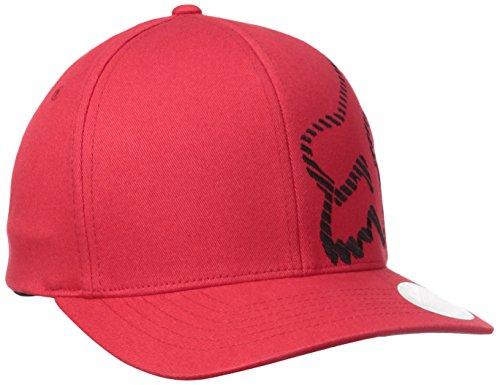 Fox Men's Cracked Flexfit Hat, Red, Large/X-Large