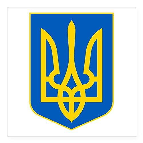 CafePress - Ukraine Coat of Arms Square Car Magnet 3