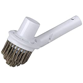 Pooline corner brush with vacuum connection - white brush body and handle - stainless steel bristles 1 pool cleaning brush the most affective and affordable pool products you can rely on these brushes are manufactured in a variety of sizes, lengths and bristle material for all proposes